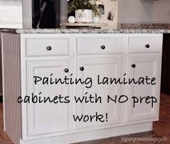 no prep kitchen cabinet paint painting laminate cabinets the right way without sanding