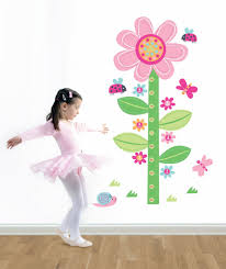 forwalls flower growth chart wall decal removable stickers