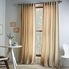 Wool Curtains Wool Curtain Heathered Oatmeal West Elm