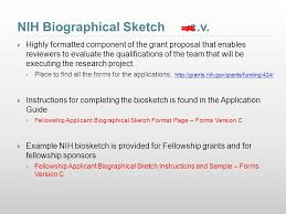 writing a winning nih biosketch ppt video online download