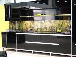 Black Glass Cabinet Doors Black Kitchen Cabinets With Glass Inserts And Photos
