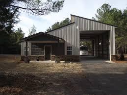 Pole Barn With Apartment Modern Detached Garage Mid Century Modern Garage Workshop