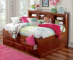 full size storage bed with bookcase headboard and storage bed