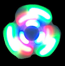 a light up fidget spinner light up fidget spinner with speakers white