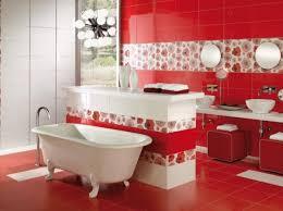elegant red bathroom design house interior and furniture
