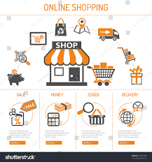 Color Image Online by Online Internet Shopping Concept Two Color Stock Vector 512531788