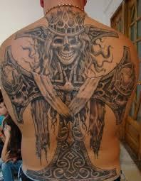 tattoos cross skull back design cool ideas