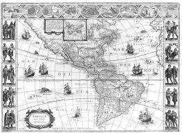 Map Of Western Hemisphere 1665 Map Of The Western Hemisphere Latin