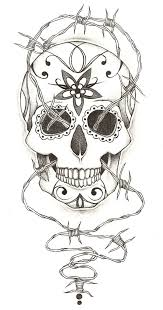 sugar skull tattoo design by charlie megalomad on deviantart