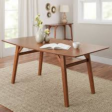 better homes and gardens reed mid century modern dining table