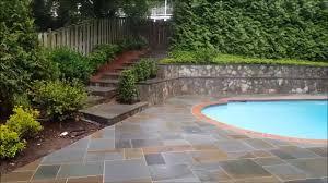 flagstone pool oklahoma flagstone pool deck lucero masonry