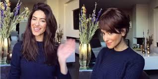 comment couper ses cheveux une astuce pour tester une coupe courte sans couper ses cheveux