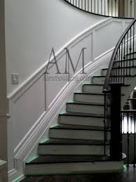 round curved staircase wainscot modern wainscoting panels