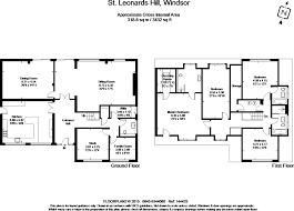 floor plan of windsor castle 4 bedroom detached house for sale in st leonards hill windsor