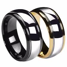 black mens wedding ring aliexpress buy queenwish 8mm dome gold black mens tungsten