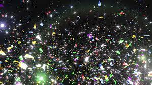 celebration and confetti streamers confetti celebration lights