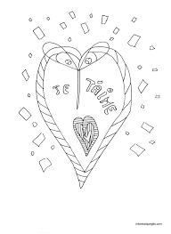 coloriage coeur dans cercle