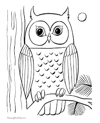 Owl Coloring Pages For Kids Fablesfromthefriends Com Owl Color Pages