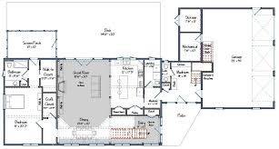 Post And Beam Floor Plans Contemporary Post And Beam The Bancroft
