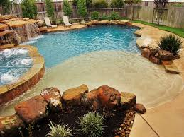 20 awesome zero entry backyard swimming pools i e beach entry