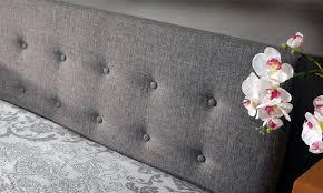 fabric ottoman storage bed groupon