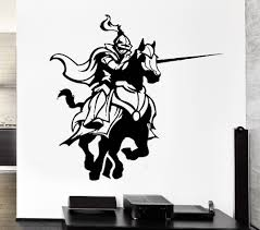 online get cheap stickers wall fight aliexpress com alibaba group free shipping medieval knights fighting game horse stickers living room wall decals home decorative arts