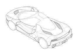 ferrari drawing mysterious ferrari patent isn u0027t so mysterious after all