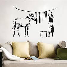 banksy home decor aliexpress com buy free shipping banksy zebra stripes wash vinyl