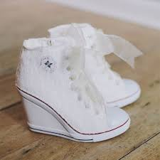 wedding shoes converse sweetheart tulle mermaid wedding dress wedding wedges converse