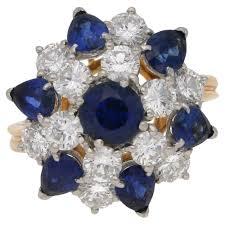 cluster rings oscar heyman diamond sapphire cluster ring rings from susannah