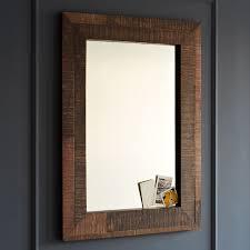 reclaimed wood bathroom mirror alluring reclaimed wood wall mirror west elm bathroom art barn