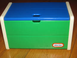 Little Tykes Toy Box Little Tikes Miniature Toy Box For A Dollhouse Blue White U0026 Green