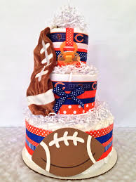 chicago bears theme diaper cake nfl baby shower centerpiece by