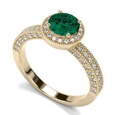gold emerald engagement rings vintage gold emerald engagement rings jewerly ideas gallery