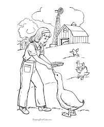 Farm Coloring Pages For Kids Az Coloring Pages Farm Girl Coloring Farm Color Page