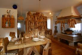 the home where everything is made out of wood even