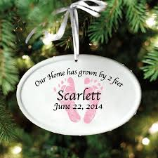 personalized baby christmas ornament personalized baby ceramic oval christmas ornament available