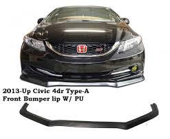 2013 2014 honda civic 4dr type a front bumper lip w poly flip