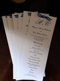 tea length wedding program programs that can be bought printed not a printable thing