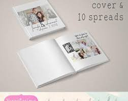 5x5 photo book guestbook template etsy