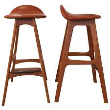 danish bar stools pair of vintage danish teak bar stools by eric buck at 1stdibs