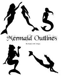 silhouette five mermaid tattoo design by heather mbc