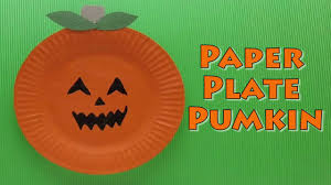 Halloween Craft Pictures by Halloween Craft Paper Plate Pumpkin Paper Plate Craft Youtube