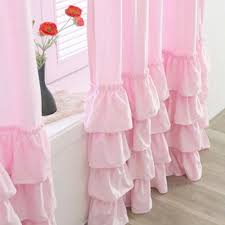 Ruffled Pink Curtains Awesome White Ruffle Curtain Ruffled Pink Curtains Plan Arpandeb