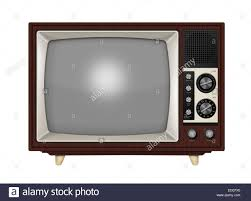 Old Knobs Old Style Retro Tube Tv With Frequency Knobs And Wooden Style