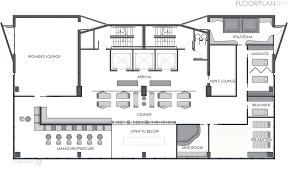 100 day spa floor plan curio a collection by hilton beautiful