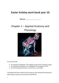 Anatomy And Physiology Exercise 10 Ocr Gcse Pe Chapter 1 Applied Anatomy And Physiology Workbook By