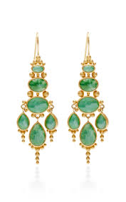 Ralph Lauren Chandelier Fashion Earrings Moda Operandi Oval Jade Chandelier Earrings By Mallary Marks