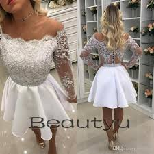 lace short homecoming dresses for juniors 2018 white a line