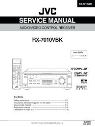 service manual jvc rx 7010vbk digital electronics electrical
